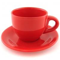 Кофейная пара красная 100 мл.