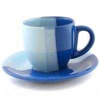 Чайная пара сине-голубая 200 мл.
