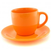 Чайная пара оранжевая 200 мл.