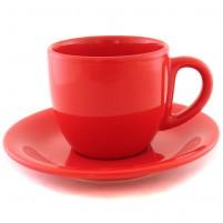 Чайная пара красная 200 мл.