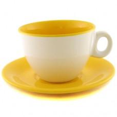 Чайная пара жёлто-белая 220 мл.