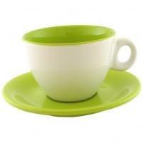 Чайная пара зелёно-белая 220 мл.