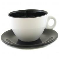 Чайная пара чёрно-белая 220 мл.