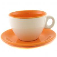 Чайная пара оранжево-белая 220 мл.