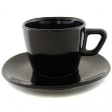 Чайная пара чёрная 200 мл.