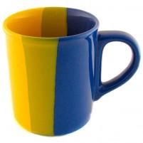 Кружка жёлто-синяя 250 мл.