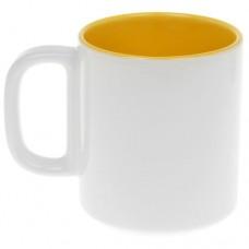 Кружка жёлто-белая 280 мл.