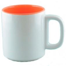 Кружка оранжево-белая 280 мл.