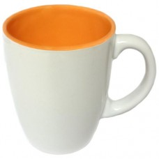 Кружка оранжево-белая 260 мл.