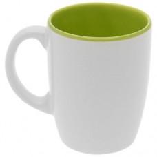 Кружка зелёно-белая 260 мл.