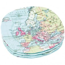 "Набор тарелок ""Карта мира"""